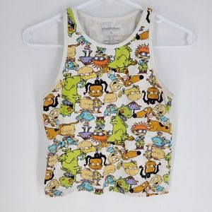Nickelodeon rugrats 90s tank top crop top small